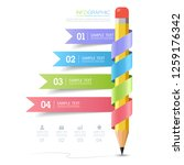 minimal infographic with the... | Shutterstock .eps vector #1259176342