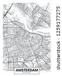 city map amsterdam  travel... | Shutterstock .eps vector #1259177275