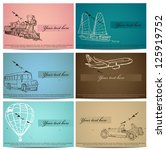 Set Of Vintage Transport Cards...
