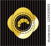 croissant icon inside gold...   Shutterstock .eps vector #1259205055