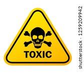 toxic vector sign illustration... | Shutterstock .eps vector #1259209942