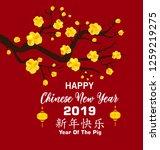 happy chinese new year 2019 ... | Shutterstock . vector #1259219275