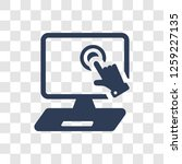 pay per click icon. trendy pay... | Shutterstock .eps vector #1259227135
