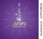 happy new year 2019 midnight... | Shutterstock .eps vector #1259228818