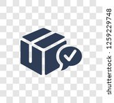 delivered box verification icon.... | Shutterstock .eps vector #1259229748