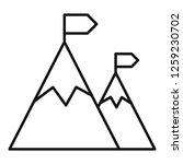 climbing mountain icon. outline ...   Shutterstock .eps vector #1259230702