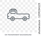 flatbed lorry icon. flatbed...   Shutterstock .eps vector #1259234125