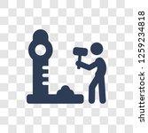 strength tester icon. trendy... | Shutterstock .eps vector #1259234818