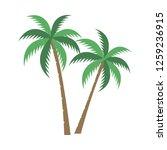 a palm tree vector set. | Shutterstock .eps vector #1259236915