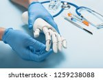 Prosthetics Hands At Doctor In...