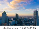 evening scene in a aerial view... | Shutterstock . vector #1259244145