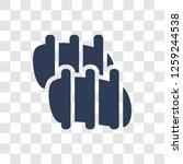 pork ribs icon. trendy pork... | Shutterstock .eps vector #1259244538