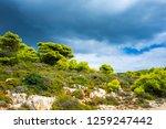 greece  zakynthos  thunderstorm ... | Shutterstock . vector #1259247442