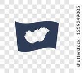 hungary flag icon. trendy...   Shutterstock .eps vector #1259249005