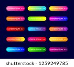 web buttons flat design with... | Shutterstock .eps vector #1259249785