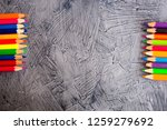 color pencils on gray concrete... | Shutterstock . vector #1259279692