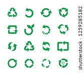 Zero Waste And Reuse Symbols...