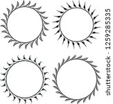 set of 4 round floral decors.... | Shutterstock .eps vector #1259285335
