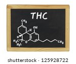 chemical formula of thc on a... | Shutterstock . vector #125928722