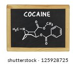 chemical formula of cocaine on... | Shutterstock . vector #125928725