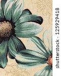 closeup of retro tapestry... | Shutterstock . vector #125929418