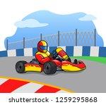 gokart racer running so fast on ...   Shutterstock .eps vector #1259295868