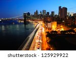 new york city manhattan... | Shutterstock . vector #125929922