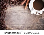 coffee tastefully presented ... | Shutterstock . vector #125930618