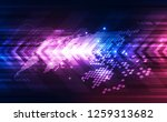 vector digital global... | Shutterstock .eps vector #1259313682