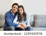 isolated gorgeous smiling... | Shutterstock . vector #1259335978