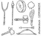 set the cave of prehistoric man.... | Shutterstock .eps vector #1259338255