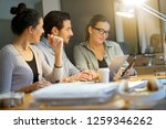 colleagues workshopping... | Shutterstock . vector #1259346262