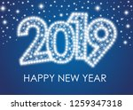 2019 happy new year greeting... | Shutterstock .eps vector #1259347318
