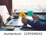 decision concepts with... | Shutterstock . vector #1259348242