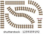 cartoon railway. realistic... | Shutterstock .eps vector #1259359192