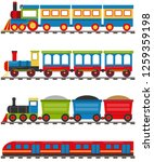 cartoon train with carriages. a ... | Shutterstock .eps vector #1259359198