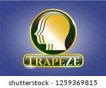 golden badge with team work... | Shutterstock .eps vector #1259369815