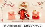happy new year 2019. chinese... | Shutterstock .eps vector #1259377972