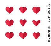 heart icons  concept of love | Shutterstock .eps vector #1259383678