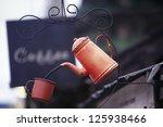 Vintage Coffee kettle - stock photo
