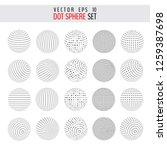 vector set of half tone 3d... | Shutterstock .eps vector #1259387698