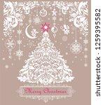 vintage christmas pastel...   Shutterstock . vector #1259395582