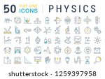 set of vector line icons of... | Shutterstock .eps vector #1259397958