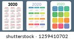 calendar 2020. colorful vector... | Shutterstock .eps vector #1259410702