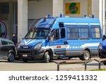 iveco police car in rimini is... | Shutterstock . vector #1259411332