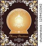 ornate vintage christmas...   Shutterstock . vector #1259413342