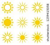 sun icon set. suns icon... | Shutterstock .eps vector #1259415058