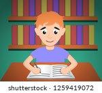 boy make homework concept... | Shutterstock .eps vector #1259419072