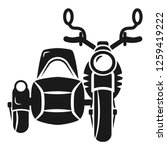 motorbike with carriage icon....   Shutterstock .eps vector #1259419222