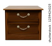 wood brown drawer icon.... | Shutterstock .eps vector #1259424325